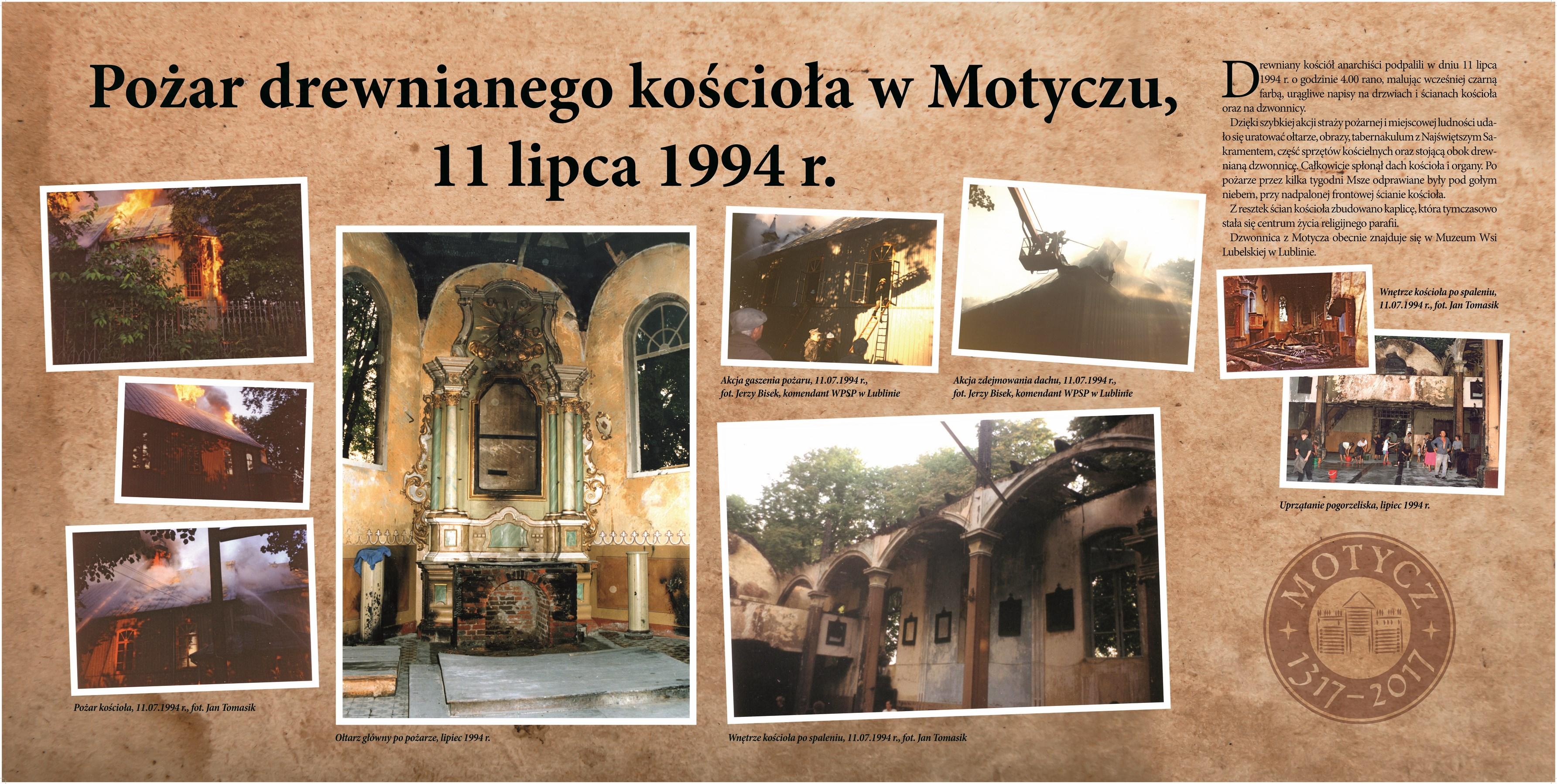 Pożar drewnianego Kościoła
